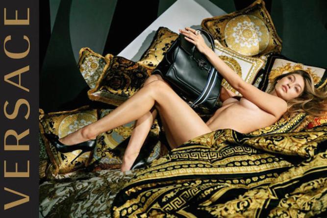 Джиджи Хадид снялась обнаженной для Vercace.