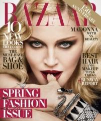 Мадонна на юбилейной обложке Harper's Bazaar.