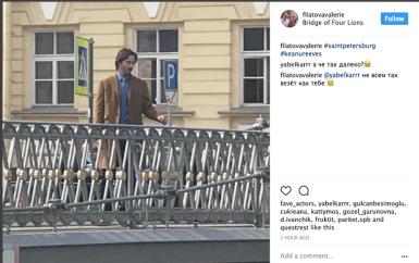 Киану Ривз в Питере снимается в фильме