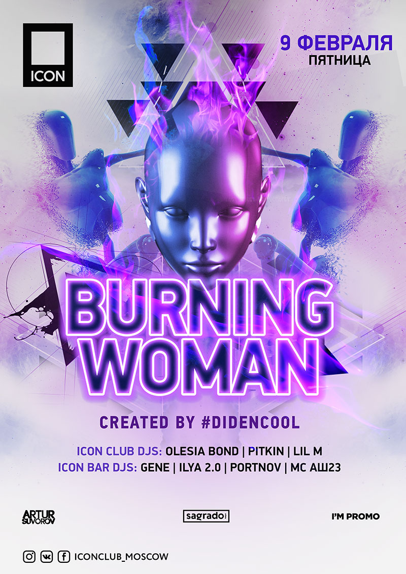 BURNING WOMAN