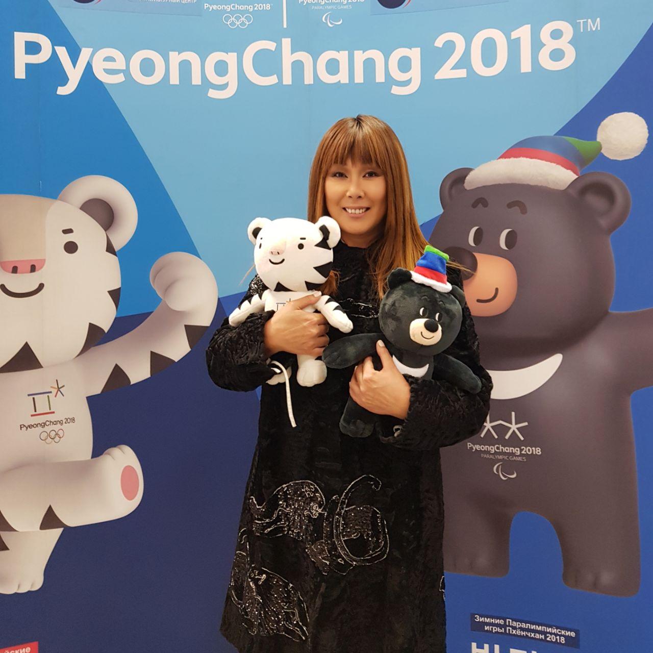 Анита Цой стала официальным факелоносцем Олимпийского огня в Южной Корее