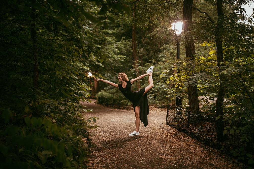 Дарья на прогулке в Центральном парке, Нью-Йорк