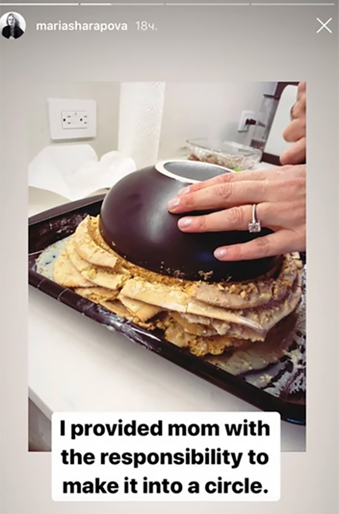 Мария Шарапова случайно показала помолвочное кольцо
