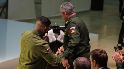 Тимати подарил куртку Министру Обороны Шойгу