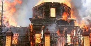 Сгорела церковь в которой крестили Фадеева